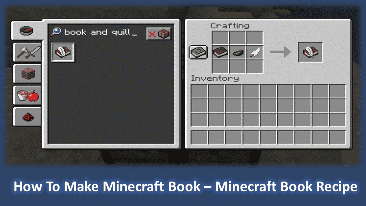 How To Make Minecraft Book – Minecraft Book Recipe